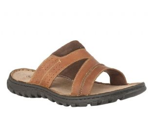 Lotus Cole Mens Tan Leather Open Toe Sandals